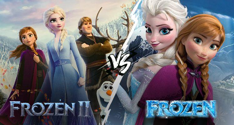 Comparison Between Frozen 2 And Frozen 1 Movie Prayan Animation